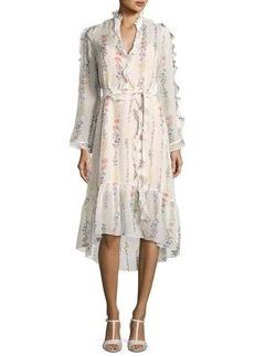 BCBG Max Azria BCBGMAXAZRIA Bunty Floral-Print Midi Dress