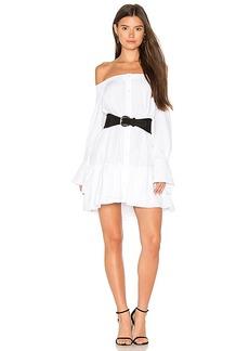 BCBGMAXAZRIA Button Down Shirt Dress in White. - size M (also in S,XS)