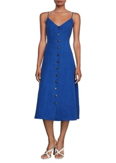 BCBG Max Azria BCBGMAXAZRIA Button-Front Linen Dress