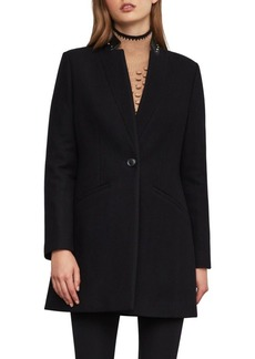 BCBG Max Azria BCBGMAXAZRIA Button-Front Wool-Blend Coat