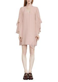 Caia Ruffle-Sleeve Shift Dress
