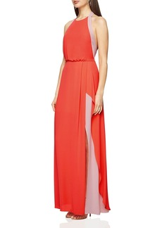 BCBGMAXAZRIA Camillia Color-Block Gown