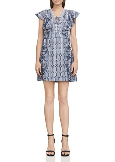 BCBG Max Azria BCBGMAXAZRIA Caralyne Lace-Up Eyelet Dress
