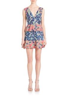 BCBG Max Azria BCBGMAXAZRIA Caron Floral-Print Peplum Dress