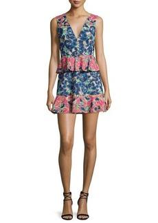 BCBG Max Azria BCBGMAXAZRIA Caron Floral-Print Peplum Fit & Flare Dress