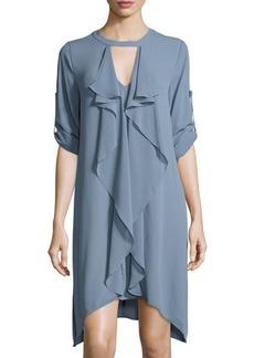 BCBGMAXAZRIA Cascade-Ruffle Shift Dress