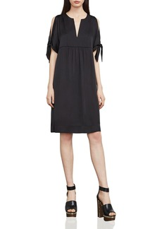 BCBGMAXAZRIA Chara Slash Tie-Sleeve Dress