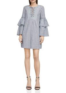 BCBG Max Azria BCBGMAXAZRIA Charlyze Lace-Up Striped Dress