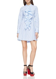 BCBGMAXAZRIA Chelsea Ruffle Shirt Dress