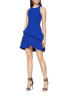 BCBGMAXAZRIA Chesney Cutout Ruffled Dress