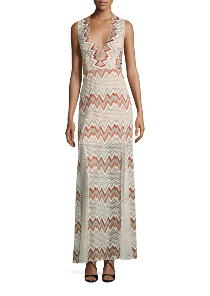 BCBG Max Azria BCBGMAXAZRIA Chevron Printed Gown | Dresses
