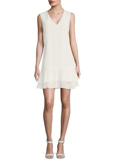 BCBG Max Azria Chevron Sleeveless Dress