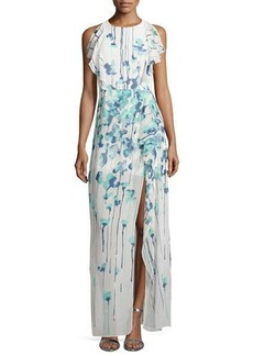BCBGMAXAZRIA Chiffon Printed Maxi Dress