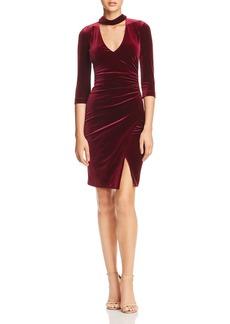 BCBG Max Azria BCBGMAXAZRIA Choker-Neck Velvet Dress