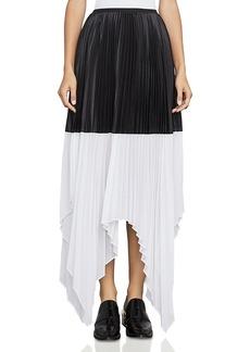 Bcbgmaxazria Christy Color-Block Pleated Skirt