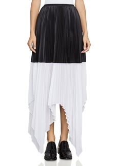 BCBGMAXAZRIA Christy Color-Block Pleated Skirt