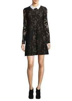 BCBG Max Azria City Collared Shift Dress