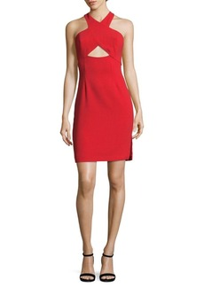 BCBGMAXAZRIA Cocktail Halter Dress