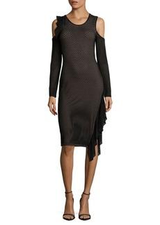 BCBGMAXAZRIA Cold-Shoulder Cutout Dress