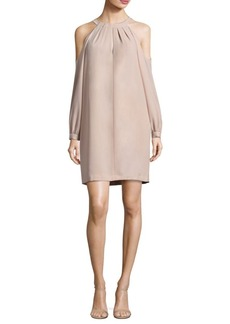 BCBG Max Azria BCBGMAXAZRIA Cold-Shoulder Halterneck Dress