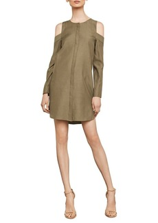 BCBG Max Azria BCBGMAXAZRIA Cold-Shoulder Shirt Dress