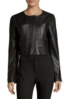 BCBGMAXAZRIA Collarless Knit Jacket