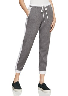 BCBG Max Azria BCBGMAXAZRIA Color-Block Cropped Jogger Pants