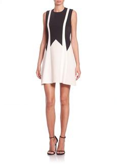 BCBG Max Azria BCBGMAXAZRIA Colorblock Fit-&-Flare Dress