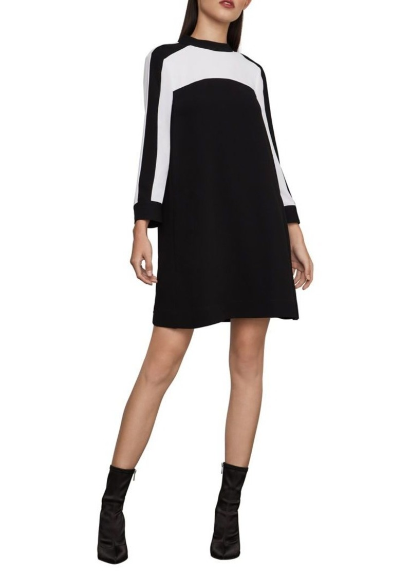 BCBG Max Azria BCBGMAXAZRIA Colorblock Mockneck Shift Dress