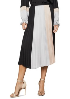 BCBG Max Azria Bcbgmaxazria Colorblocked Pleated Midi Skirt