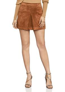 BCBG Max Azria BCBGMAXAZRIA Corinne Faux Suede Mini Skirt