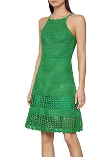 BCBG Max Azria BCBGMAXAZRIA Crochet Knit A-Line Dress