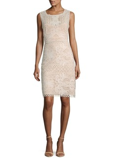 BCBG Max Azria Crochet Lace Sheath Dress