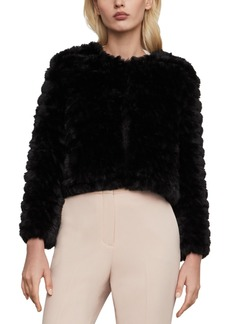BCBG Max Azria Bcbgmaxazria Cropped Faux-Fur Jacket