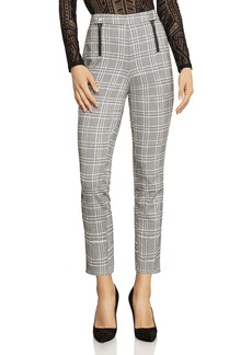 BCBG Max Azria BCBGMAXAZRIA Cropped Straight-Leg Plaid Pants