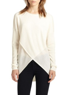 BCBG Max Azria BCBGMAXAZRIA Crossover-Front Wool Sweater