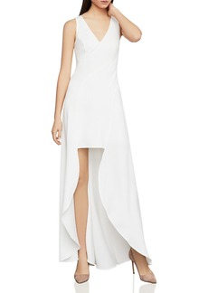 BCBG Max Azria BCBGMAXAZRIA Cr�pe High/Low Dress