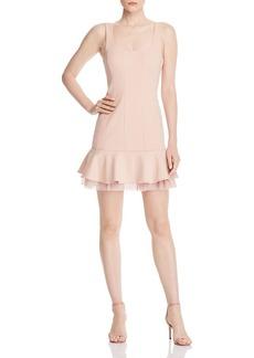 BCBG Max Azria BCBGMAXAZRIA Cr�pe Point d'Esprit Dress