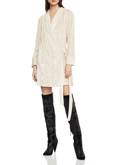 BCBG Max Azria BCBGMAXAZRIA Crushed Velvet Robe Wrap Dress