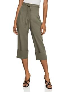 BCBG Max Azria BCBGMAXAZRIA Cuffed Tie-Front Cropped Pants