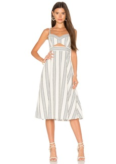 BCBG Max Azria Cut Out Midi Dress