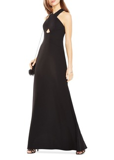 BCBGMAXAZRIA Cutout Cross Front Gown