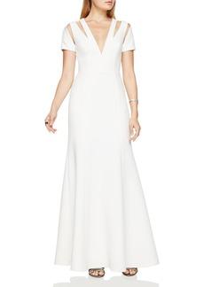 BCBGMAXAZRIA Cutout Gown