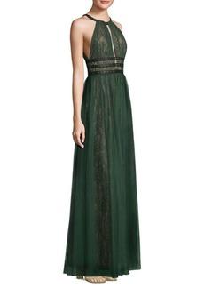 BCBG Max Azria BCBGMAXAZRIA Cutout Lace Gown