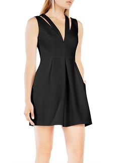 BCBGMAXAZRIA Cutout V-Neck Dress