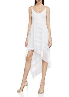 BCBG Max Azria BCBGMAXAZRIA Dae Asymmetric Mesh & Lace Dress