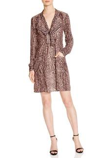 BCBGMAXAZRIA Damario Cheetah Print Tie Neck Dress - 100% Exclusive
