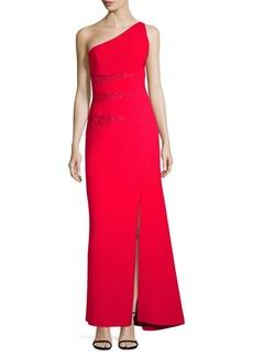 BCBG Max Azria Dawson One-Shoulder Gown