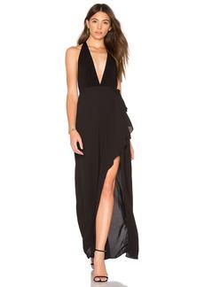 BCBGMAXAZRIA Deep V Gown