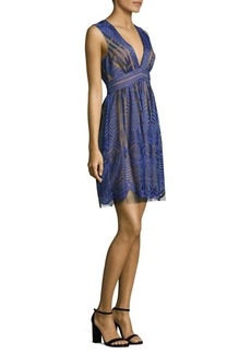 BCBG Max Azria BCBGMAXAZRIA Deep V-Neck Lace Dress